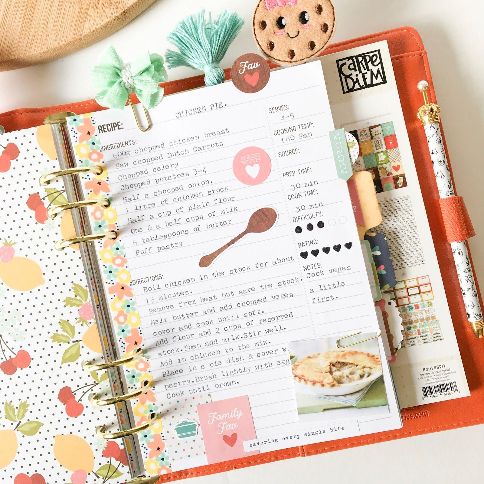Sassy Scrapper Scrapbook Recipe Book Recipe Book Design Homemade Recipe Books