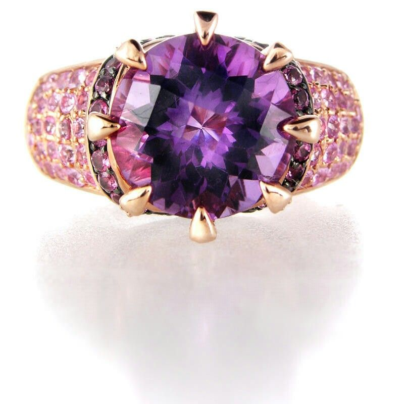 gold in vian save lyst ct w le pink jewelry tw and tanzanite ring t rose diamond