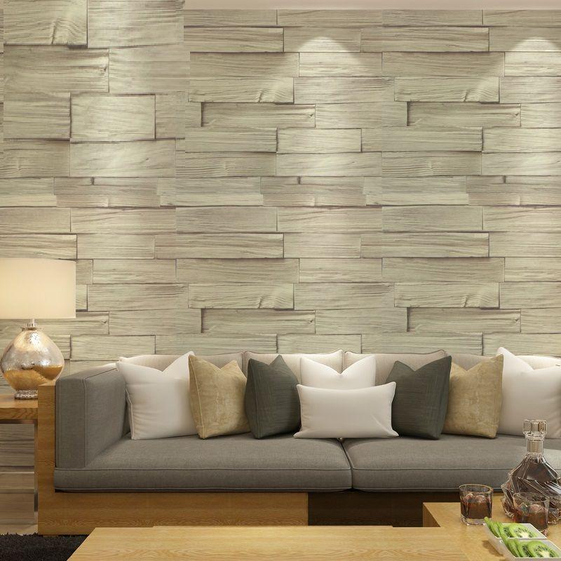 اشتري ورق الجدران بسعر الجملة على الانترنت من باعة جملة ورق الجدران بالصين Brick Effect Wallpaper Interior Decoration Bedroom Home