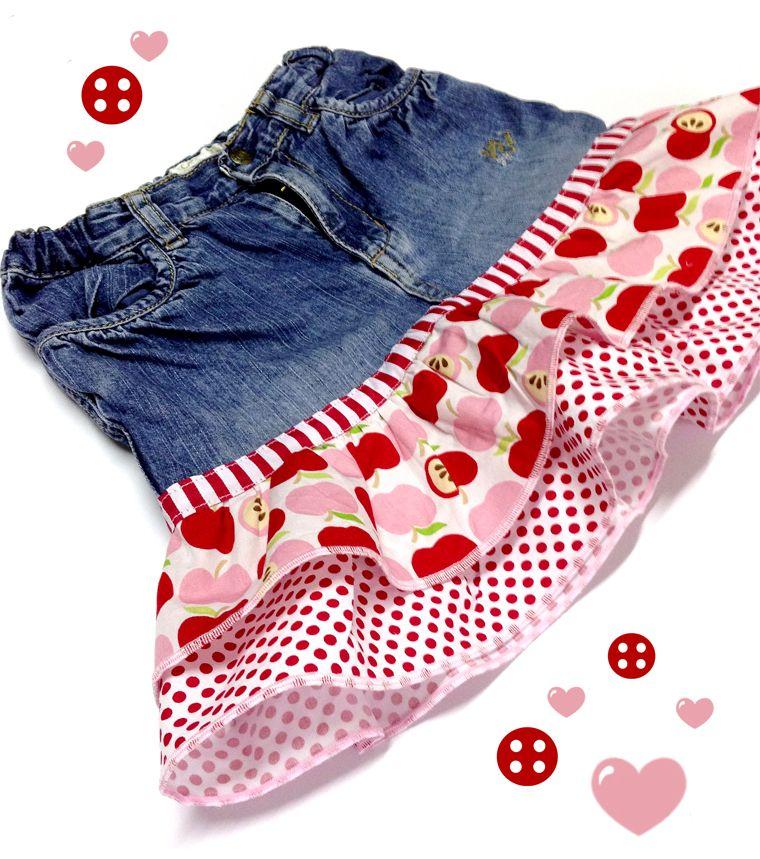 Tutorial: aus einer alten Jeans wird ein Rock / Jeans Recycling ...