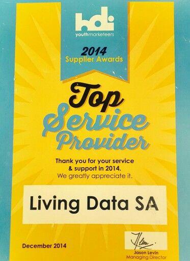 LIVING DATA SA 2014 TOP SERVICE PROVIDER AWARD