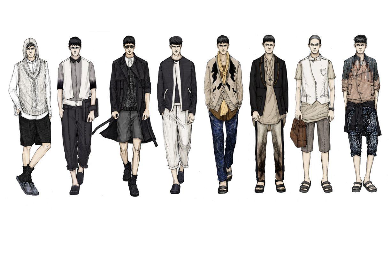 Line Art Design Trend : Fashion illustrator mengjie di new work for stylesight