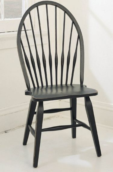 Attic Heirlooms Windsor Side Chair Black Side Chairs Dining Broyhill Furniture Dining Room Chairs Upholstered