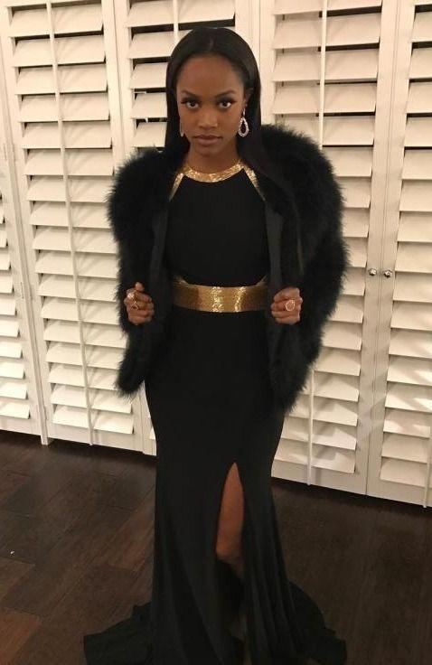 All The Details On Rachel Lindsay S Stylish Outfits On The Bachelorette Bachelorette Dress Little Black Dress Outfit Black Dress Outfits