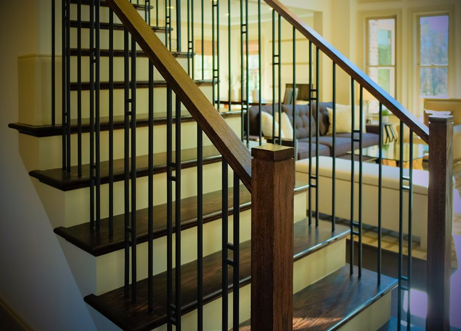Best Mission Style Staircase Stair Railing Design Interior 400 x 300