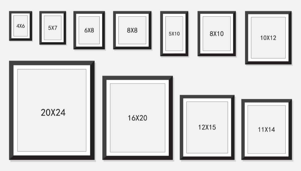 37 Different Types Of Picture Frames Standard Picture Frame