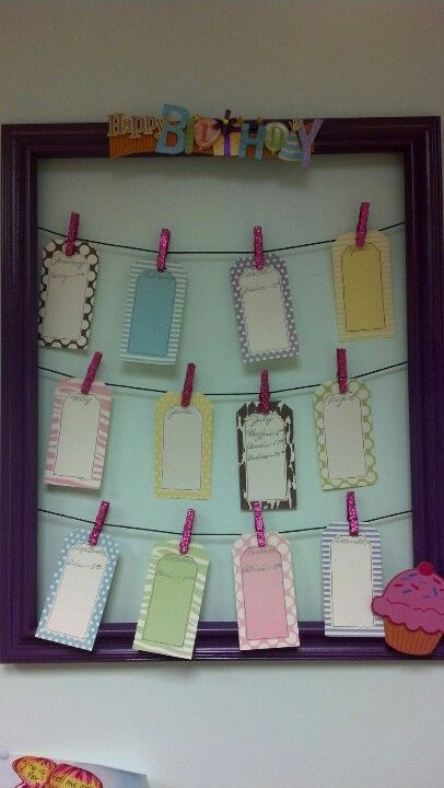 To display birthdays at work, classroom or even in your house! Very