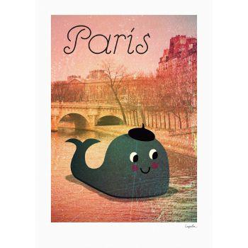 Whale In Paris 50 x 70 cm