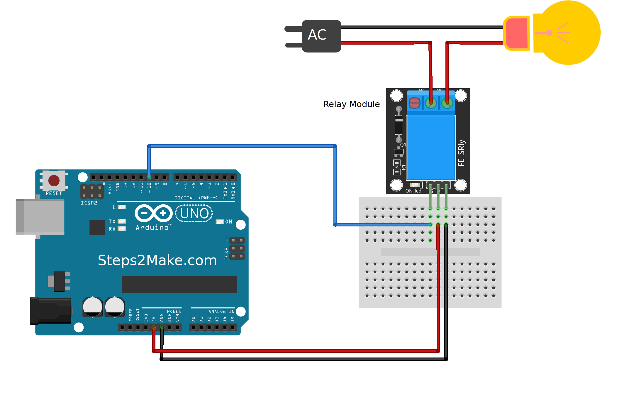 Relay Arduino Button Diagram Car Wiring Diagrams Explained Board To The New Keyes 5v Module Is Perfectly Made For Rh Pinterest Com Circuit Control