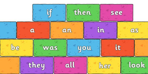 Phase 2 and Phase 3 High Frequency Words on Multicoloured Bricks Resource Pack