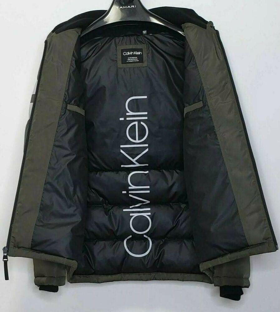 Calvin Klein Mens Water Resistant Green Hooded Puffer Winter Jacket Size M Calvinklein Puffer Men S Coats And Jackets Winter Jackets Calvin Klein [ 1000 x 898 Pixel ]
