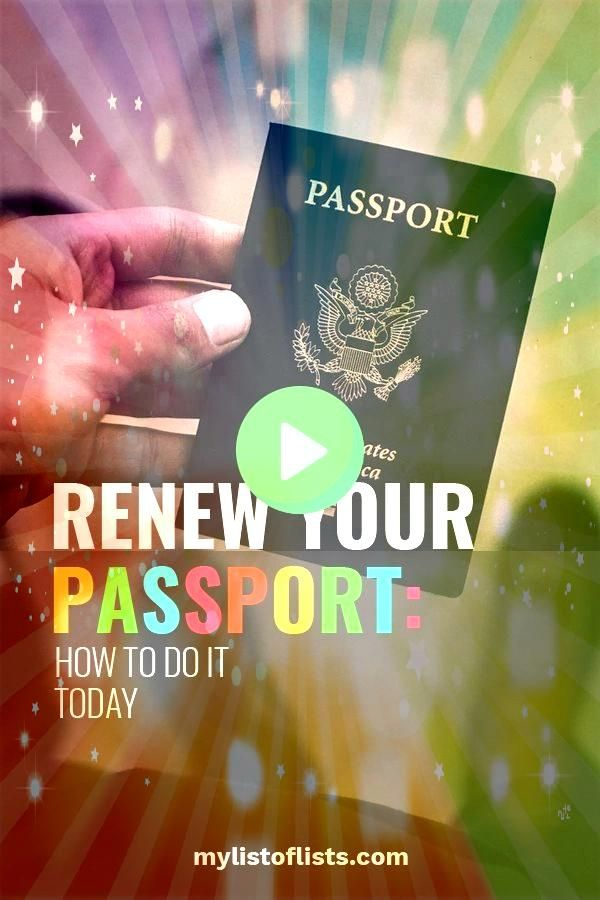 Your Passport How to Do It Today  My List of Lists Stop procrastinating and renew your passport now Instructions for renewing your passport so you can get ready for your...