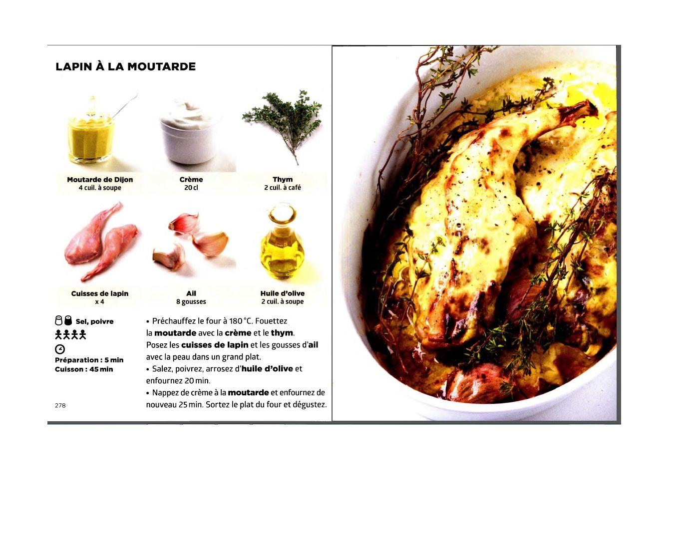 Simplissime Lapin A La Moutarde Lapin Aux Olives Recette Recette Lapin