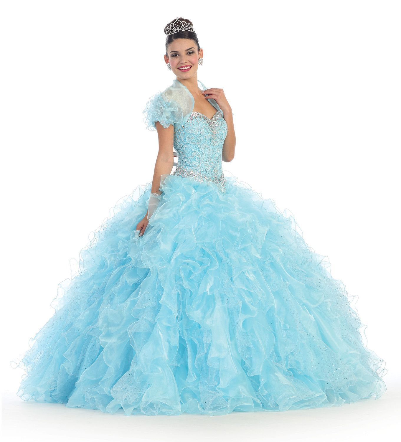 Quinceanera formal prom dress homecoming long gown boleros bodice