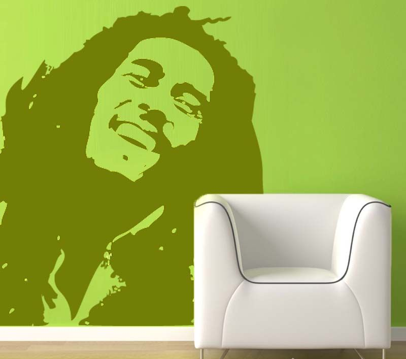 Wall Decal Inspiratinal Bob Marley Decals Wallpaper For Bedroom Stickers Bikes Songs
