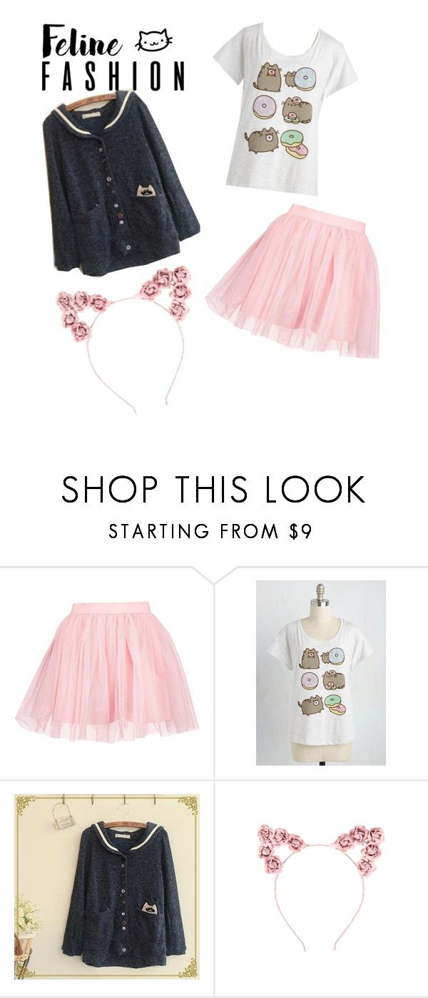"""""""Feline Fashion"""" by jazzy-desuyo ❤ liked on Polyvore featuring Boohoo and Fairyland"""