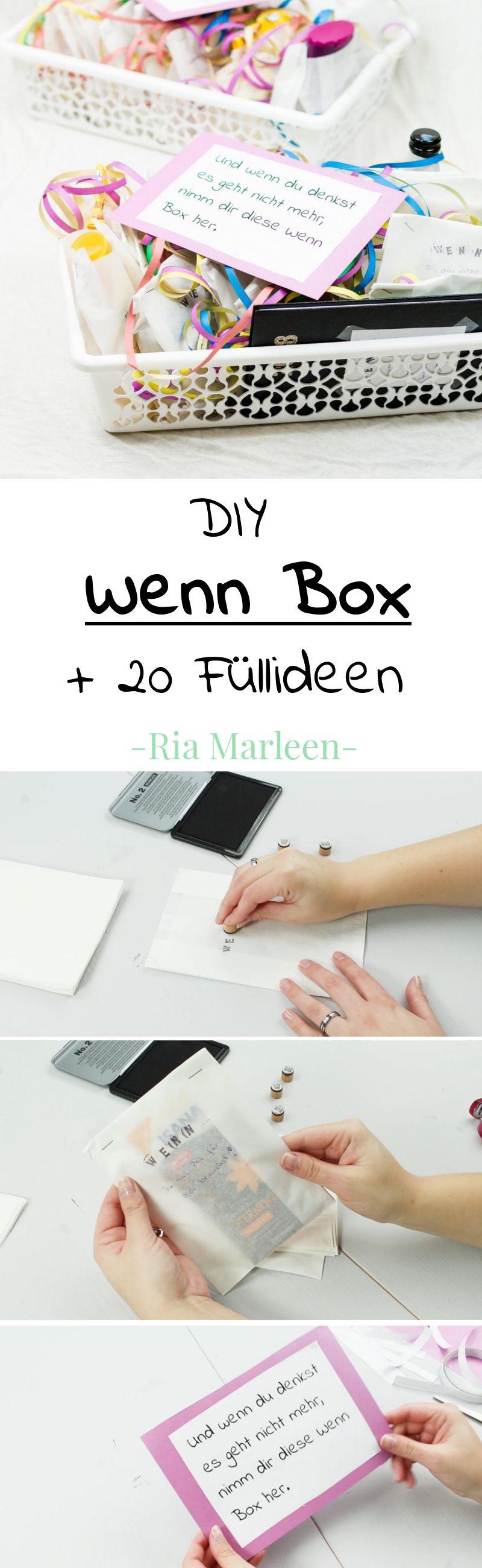 DIY Wenn Box basteln schöne Geschenkidee für jede Person und jeden Anlass egal ob Geburtstag Weihnachten oder Hochzeit über se Wenn Buch