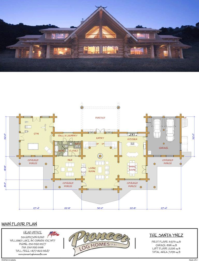Midwest Pioneer Log Cabin Layjao Log Cabin House Plans Ranch Style House Plans Cabin House Plans