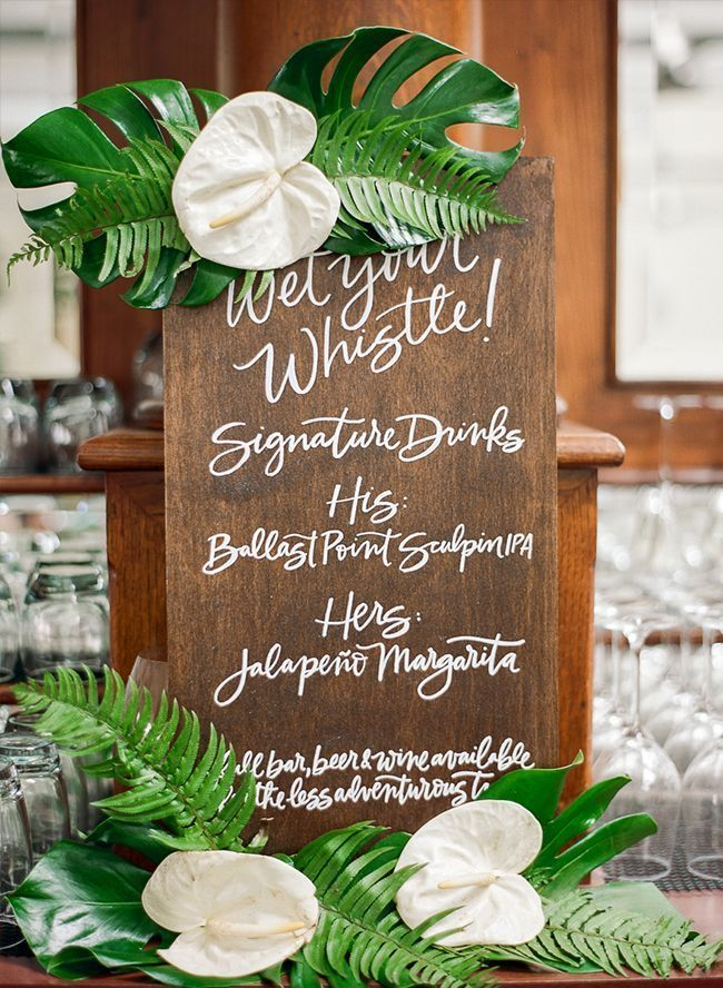 Tropical Catalina Island Wedding Inspired By This
