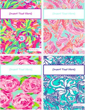 FREE Lilly Pulitzer Binder Cover Sheets | Hand Lettering, Fonts ...