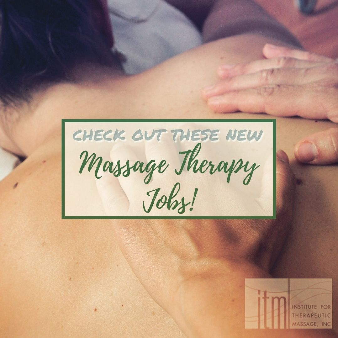 Employment Opportunities (With images) Massage therapy