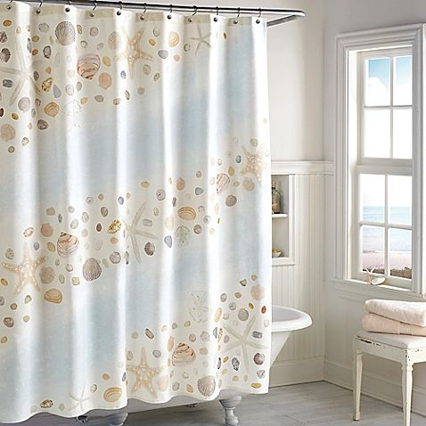 pebble beach shower curtain (with images)   beach shower