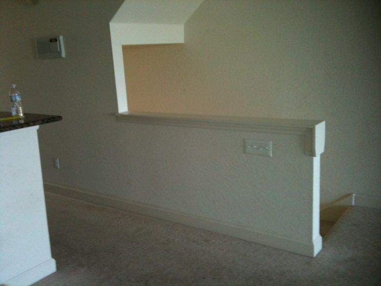 Remove Half Walls Replace With Wood Railing Balusters