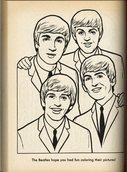 The Beatles Para Colorear | LineArt: The Beatles in 2018 | Pinterest ...