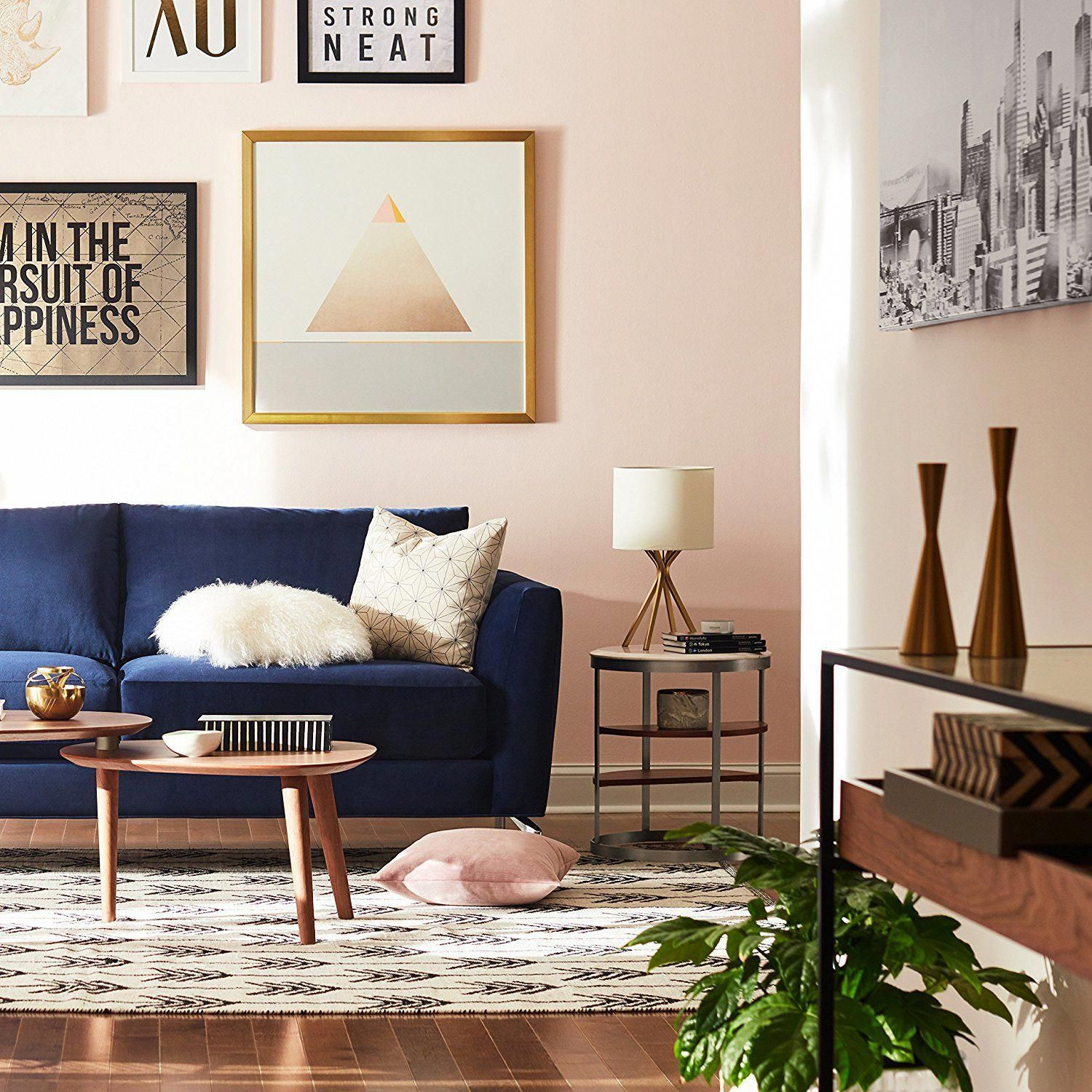 10 Of Our Favorite Lamps To Shop On Prime Day Livingroomcouch In 2020 Blue Sofas Living Room Blue Couch Living Room Blue Couch Living