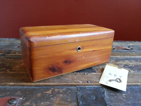 Vintage Lane Cedar Chests Altavista Va Lefevre Brothers Treasure Chest Trinket Jewelry Stash Box W Key I Love