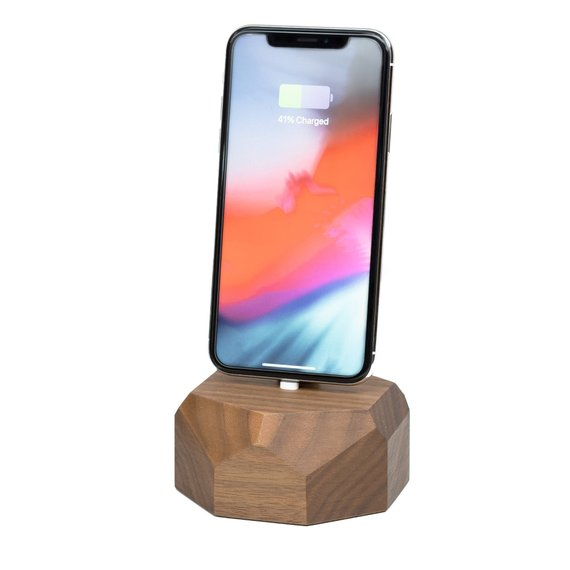 online store 49592 4f5dd iPhone charging dock, iPhone X wooden stand, docking station, iphone ...