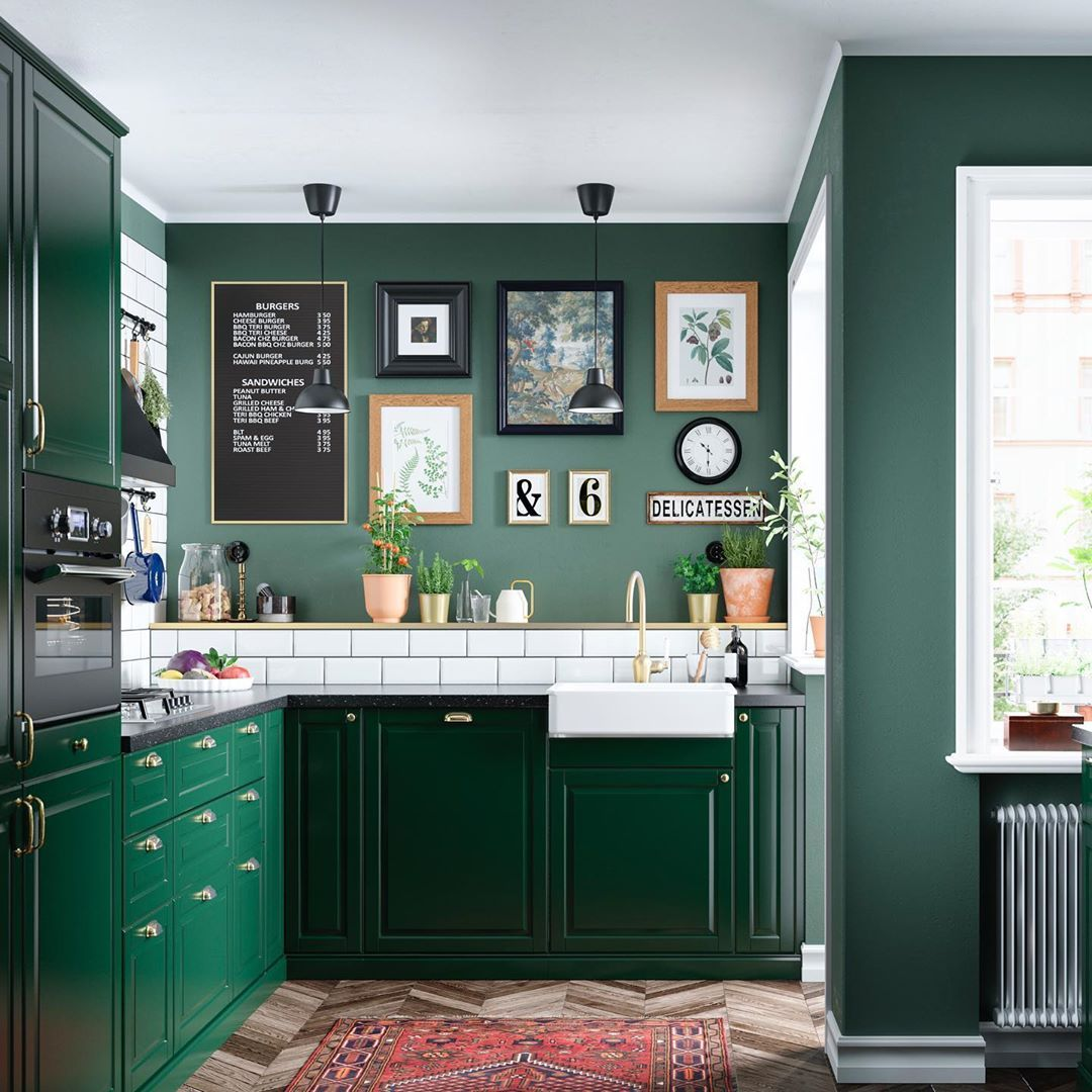 Wondering What S Next In Kitchen Trends Go Green In Every Sense Of The Word Combine Our Stylish Da Green Kitchen Cabinets Kitchen Trends Dark Green Kitchen