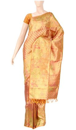 Pure Kanchipuram Handloom Silk Saree with Pure Zari