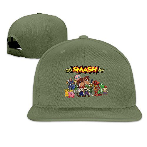 YL&GF Super Smash Bros. Melee Baseball Adjustable Cap Fitted Hats Unisex,men And Women ForestGreen