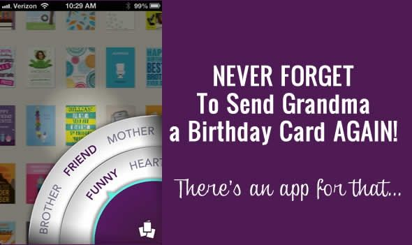 Review Treat Birthday Card App For The Iphone With Images