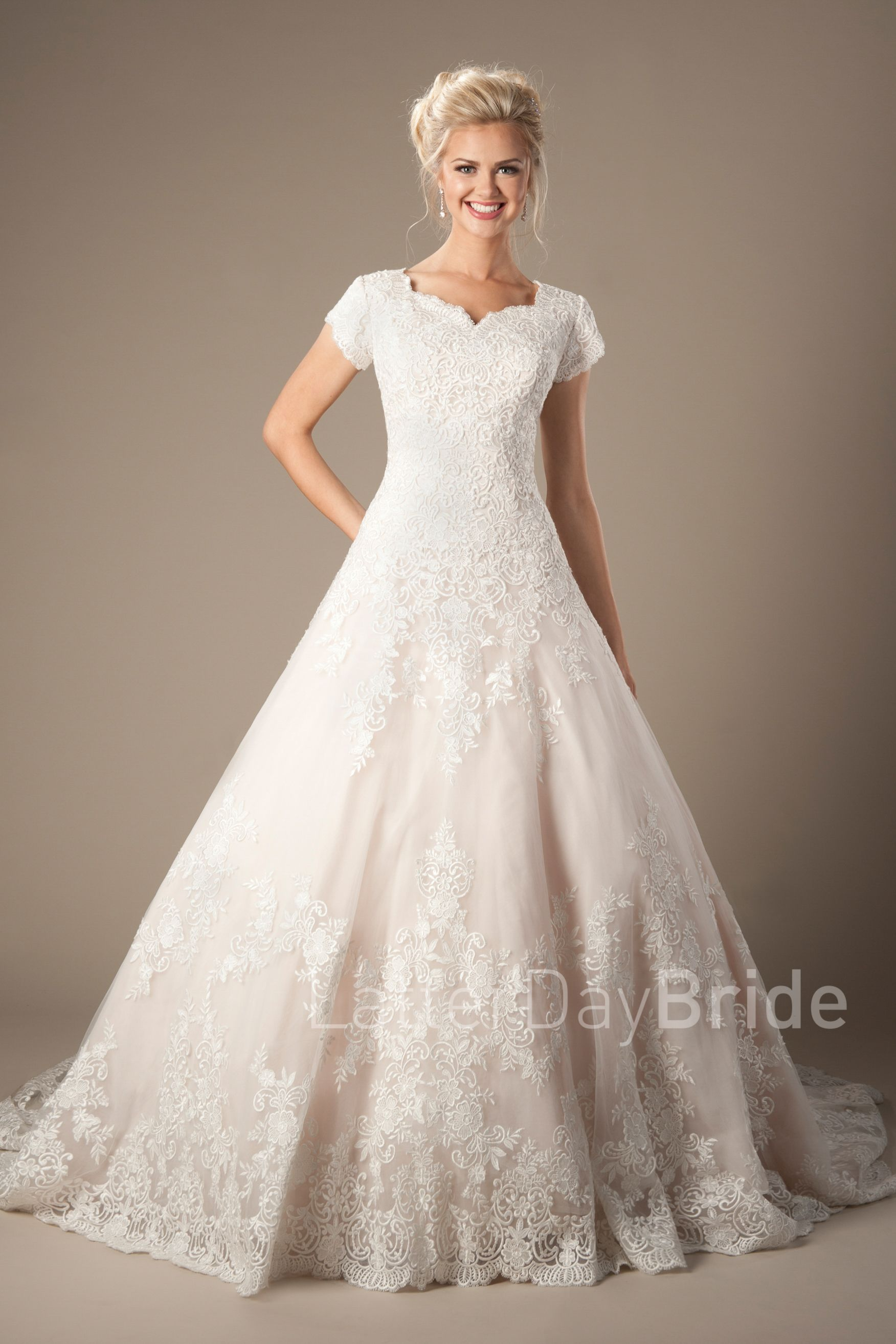 Dennison Modest Wedding Dress Latterdaybride Worldwide