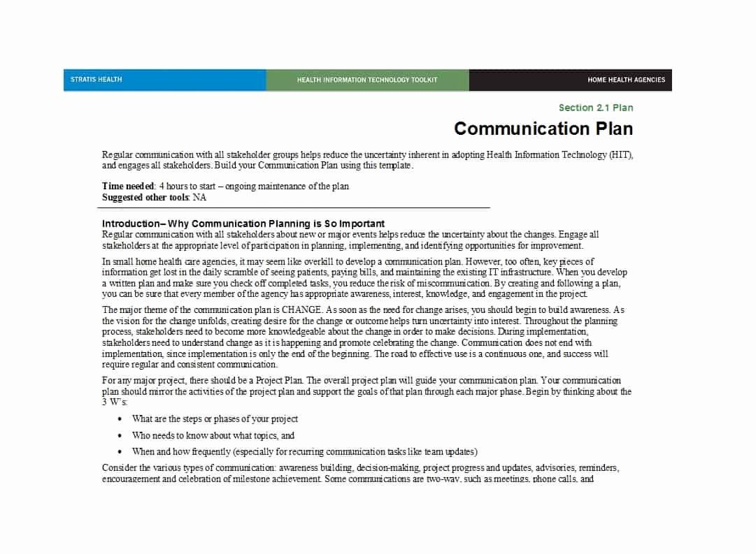 30 Sample Communications Plan Template in 2020 (With