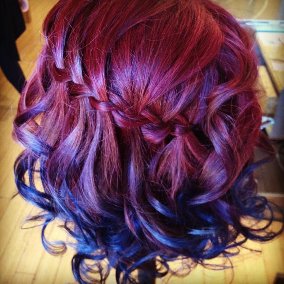 Bow meets girl great blog of a very talented student i love this color melt with intense red - Ombre hair marron ...
