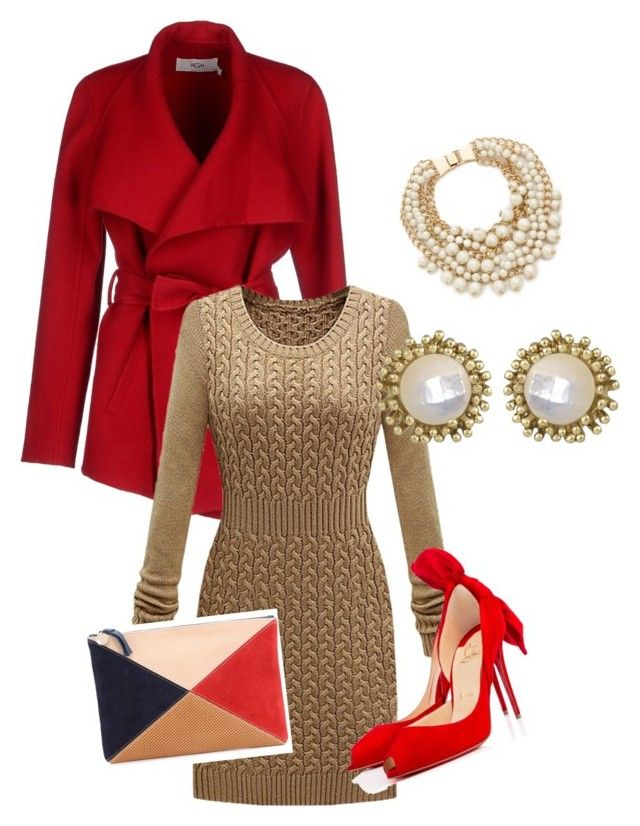 """""""Business to Night on the Town"""" by purplerose062 on Polyvore featuring BGN, Christian Louboutin, Clare V., Kate Spade and Kendra Scott"""