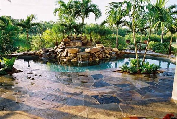 Natural stone structures google search backyard patio for Natural rock swimming pools
