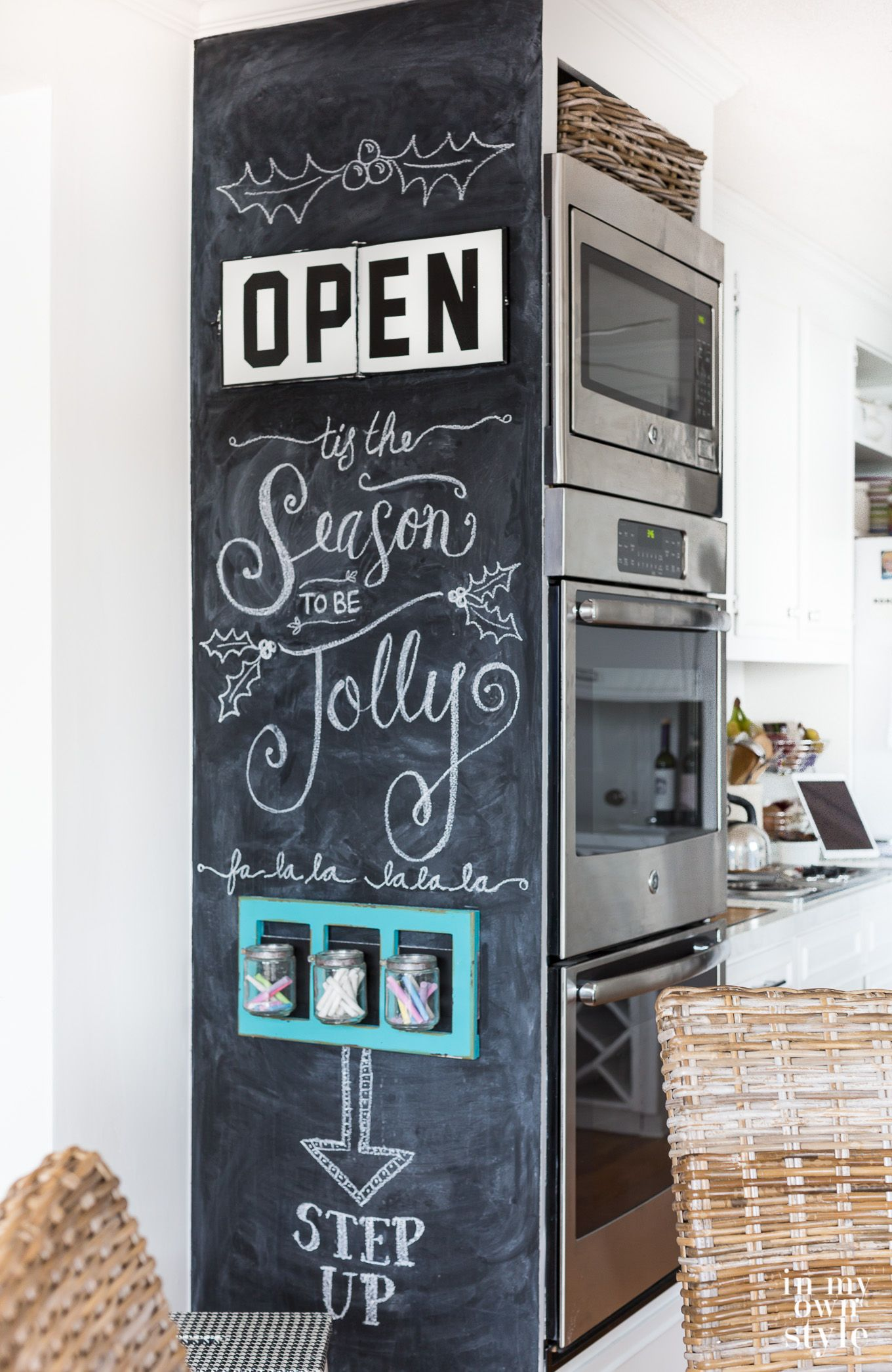 Why I Painted A Floor To Ceiling Chalkboard Wall In My Kitchen