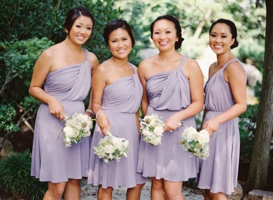Light Purple Short Bridesmaid Dress