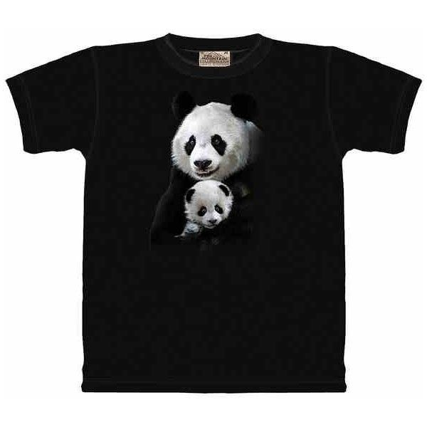e22f488b624 Panda Shirt ($19) ❤ liked on Polyvore featuring tops, black shirts, panda  bear shirt, panda shirt and shirt top