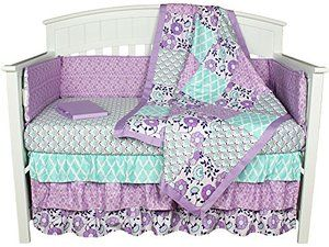 Purple Crib Bedding Zoe 8 In 1 Baby Bedding Set By The Peanut Shell Crib Bedding Girl Purple Crib Bedding Girl Crib Bedding Sets