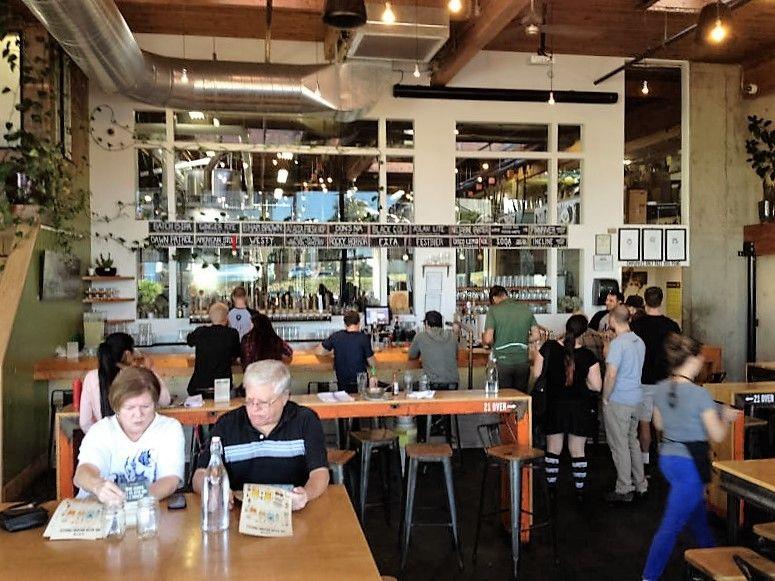 timber in bars etc  Timber tables, bench tops & bar top - Aslan Brewing Co, Bellingham, WA