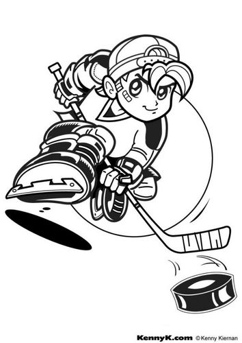 Coloring Page Hockey Sports Coloring Pages