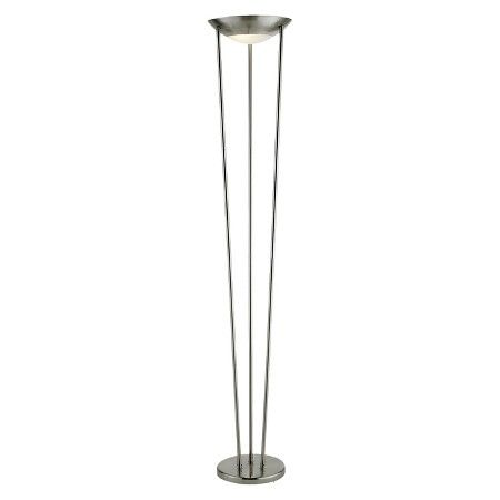 Adesso Odyssey Tall Floor Lamp Silver Silver Floor Lamp Tall Floor Lamps Floor Lamp