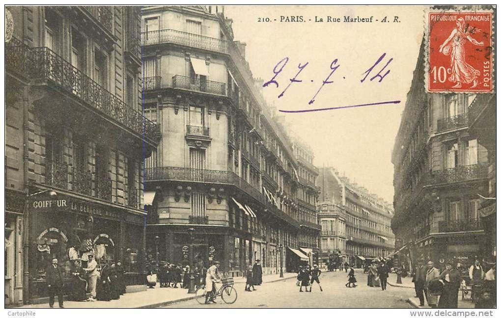 Rue Marbeuf Rue Marbeuf Histoire De Paris Paris