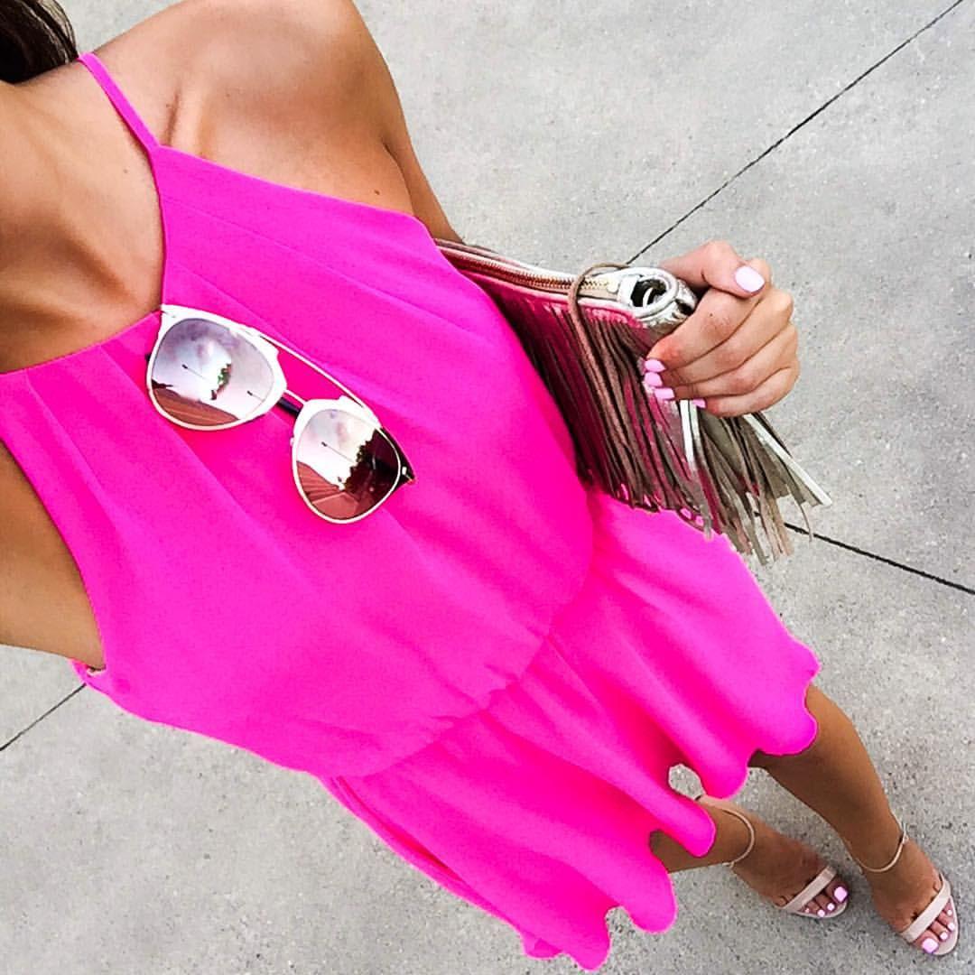 Add a pop of (hot) pink to your wardrobe, darlings  | dress under $50, details:: @liketoknow.it www.liketk.it/1LoFv #liketkit