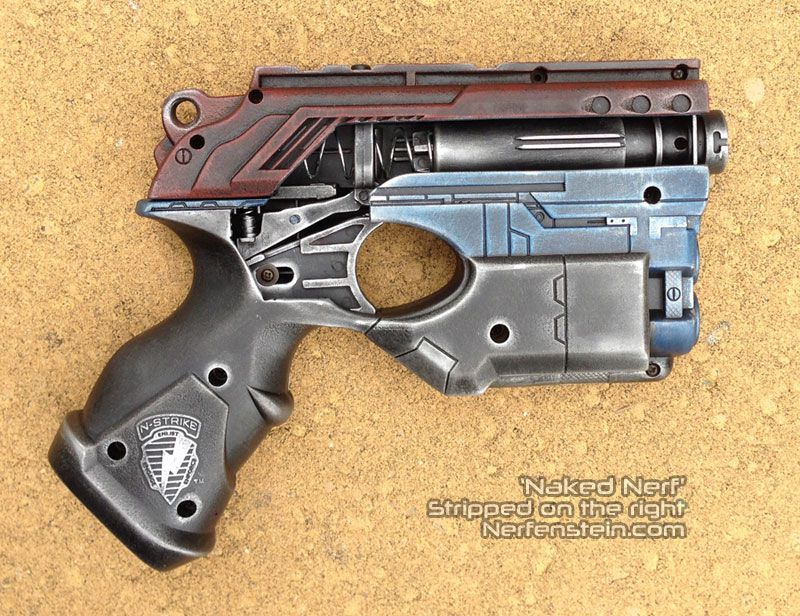Nerf Scout stripped Naked - Naked Nerf series of mods. Skeletonized Nerf  concept art piece